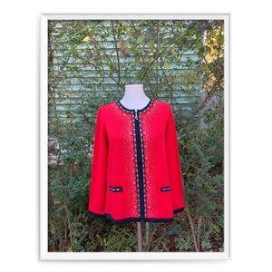 🔥Cathy Daniels Jeweled Zip-Front Cardigan 🔥